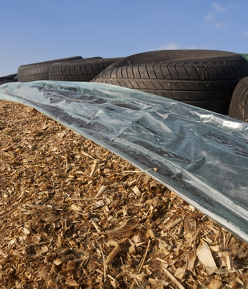 Silage pile cover